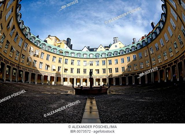 Brantingtorget, courtyard, fisheye view