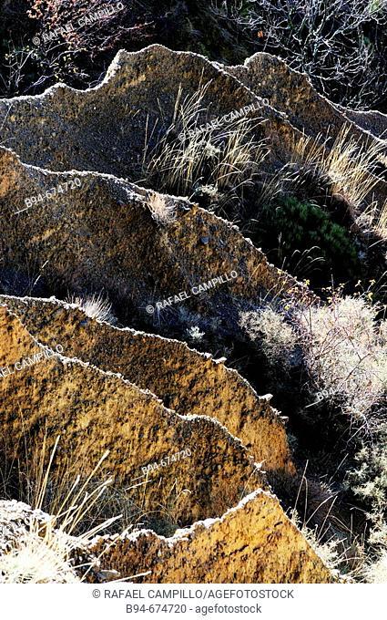 Erosion. Rock formations. Osseja. Languedoc Roussillon. Pyrenées orientales. France