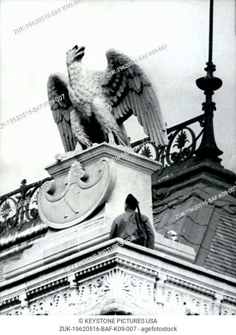 May 16, 1962 - National Policeman On Courthouse Roof During Raoul Salan Trial (Credit Image: © Keystone Press Agency/Keystone USA via ZUMAPRESS.com)