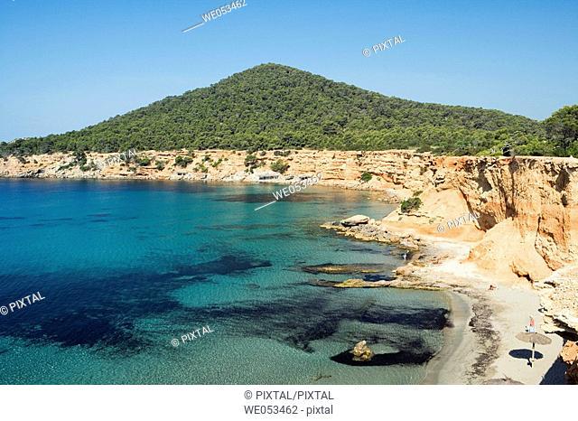 Es Bol Nou beach, Ibiza. Balearic Islands, Spain