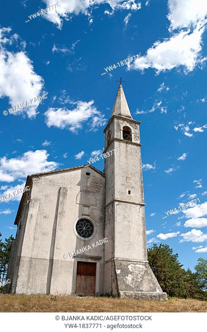 Church of St Foška - built in the 9th century, Zminj, Central Istria, Croatia