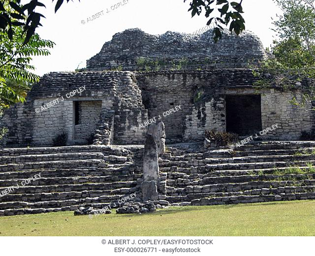 Mayan ruins of Kohunlich, 600 a.D. Quintana Roo, Mexico