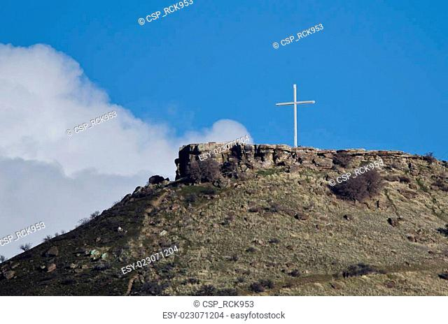 Cross Standing High on the Mountain