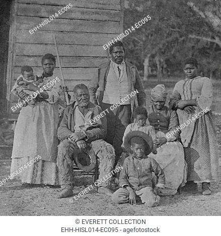 African American slave family representing five generations all born on the plantation of J. J. Smith, Beaufort, South Carolina