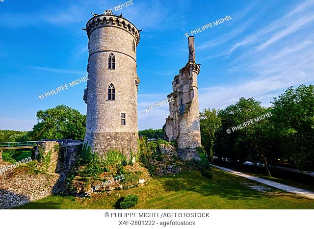 """France, Cher (18), Berry, Mehun-sur-Yèvre, approved """"""""city and metiers of Arts"""""""", the Jacques Coeur road, castle of Jean de Berry, and museum of Charles VII"""
