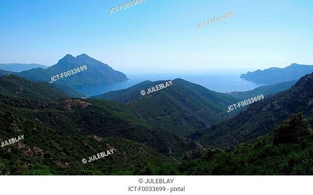 France, Corsica, gulf of Porto, Girolata