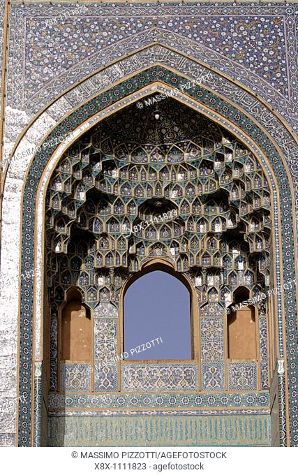 Detail of the Jameh mosque in Yazd, Iran