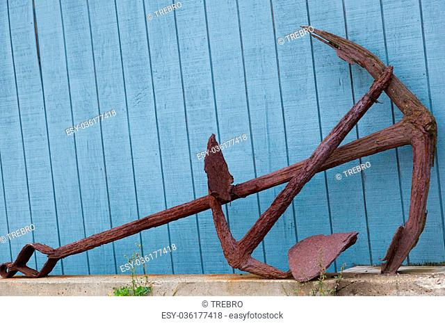Rusty Old Anchor , Port Clyde, Maine, USA