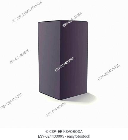 Blank black box isolated