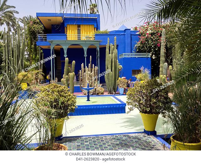Morocco, Marrakech, Majorelle gardens