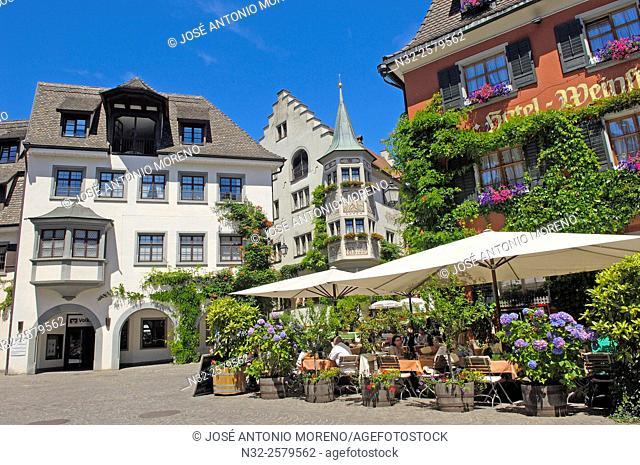 Meersburg, Market square, Lake Constance, Bodensee, Baden-Wuerttemberg, Germany, Europe