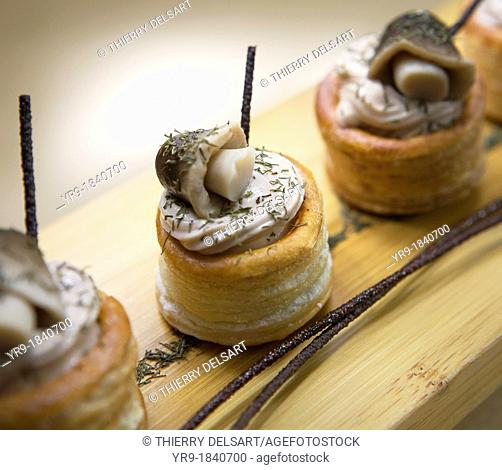 Catering recipe: Savage mushrooms cream in a vol-au-vent