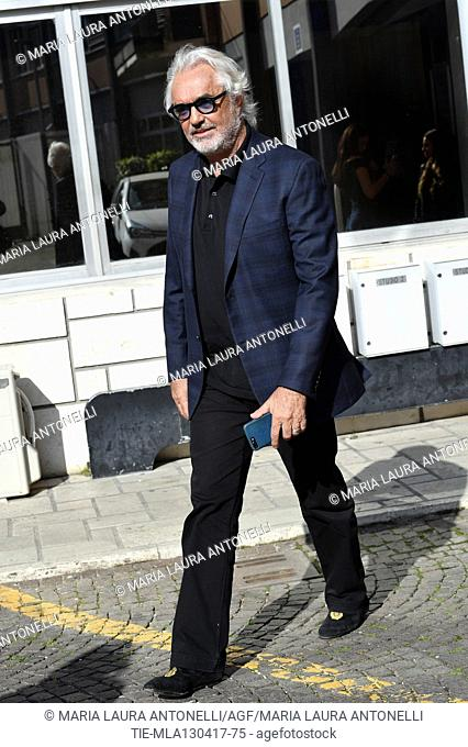Italian businessman Flavio Briatore arrives at tv show Tabloid Night, Rome, ITALY-13-04-2017