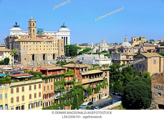 View of Rome from Palatine Hill Italy IT EU Europe