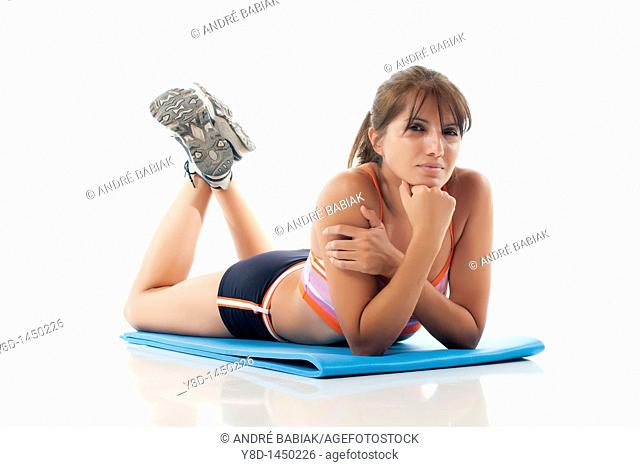 Fitness training - Woman working out