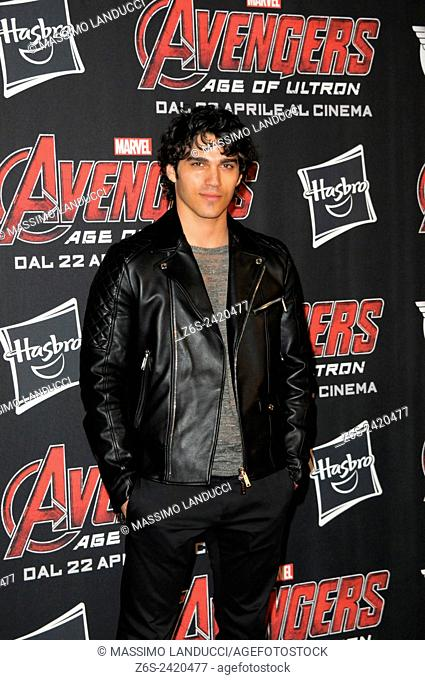 giuseppe maggio ; maggio; actor ; celebrities; 2015;rome; italy;event; red carpet ; avengers, age of ultron
