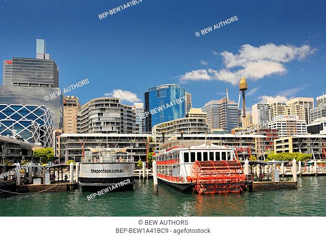 Australia, Sydney, New South Wales, Darling Harbour i Central Business District