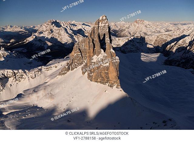 Three Peak of Lavaredo. Misurina, Belluno province, Veneto region. Italy Europe