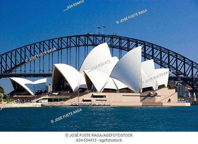 Opera House and Harbour Bridge. Sydney City. Australia. April 2006