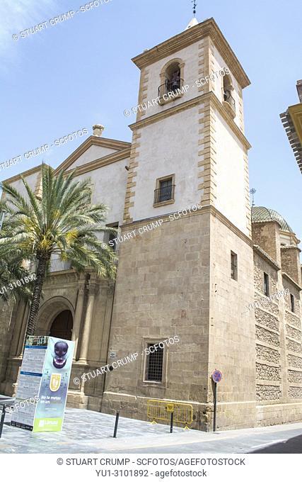 Entrance to the Church of San Mateo (Iglesia de San Mateo) in Lorca, Murcia, Spain
