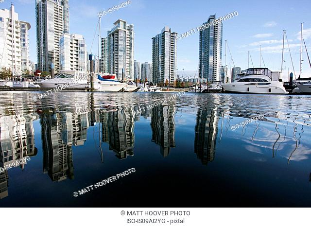 Marina by skyscrapers, Vancouver, Canada