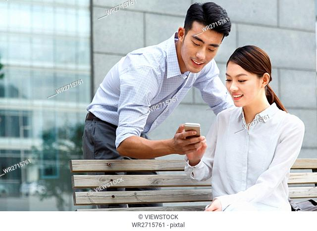 Leisure business young men and women