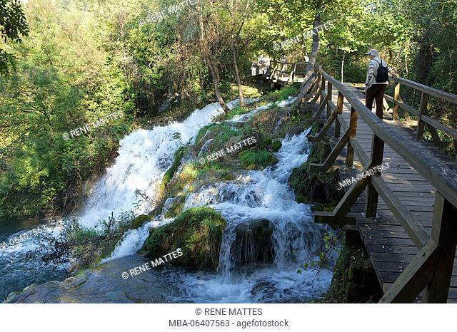 Croatia, Central Dalmatia, near Sibenik, Krka National Park, Krka River Falls