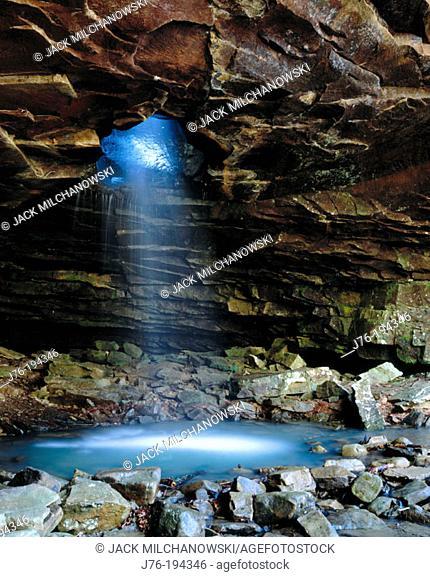 Glory Hole Falls on Dismal Creek. Newton County. Arkansas. USA