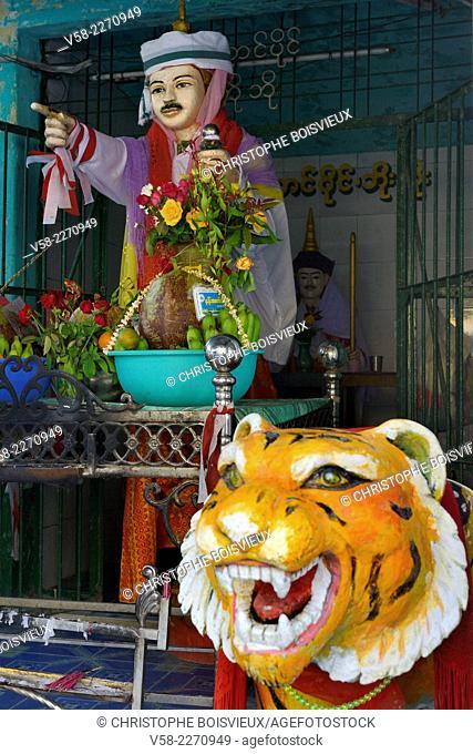 Myanmar, Mon State, Mawlamyine (Moulmein), Kyaik Thanlan pagoda (also called Kipking Pagoda), Po Po Kyi, protector nat of the pagoda