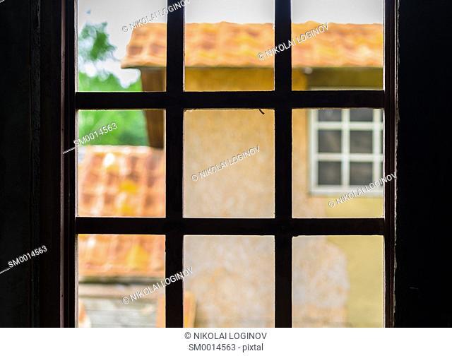 Wooden vintage western window bokeh