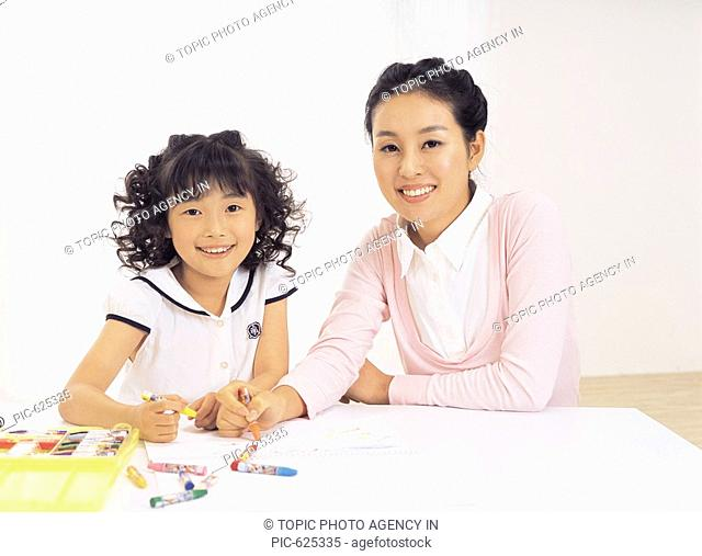 Portrait of Mother and Daughter, Korea
