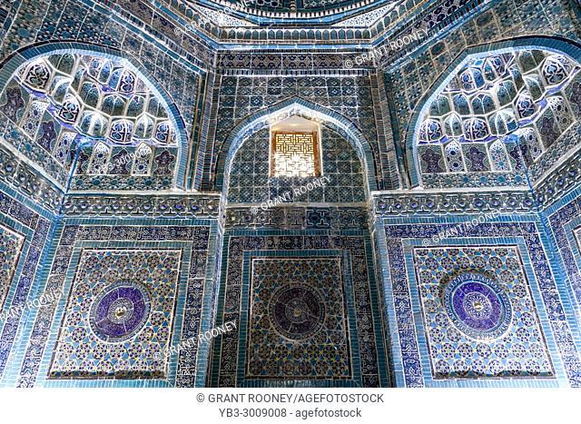 Shodi Mulk Oko Mausoleum Interior, The Shah-i-Zinda Mausoleum Complex, Samarkand, Uzbekistan