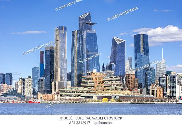 USA, New York City, Manhattan, Midtown, Hudson Yards Complex