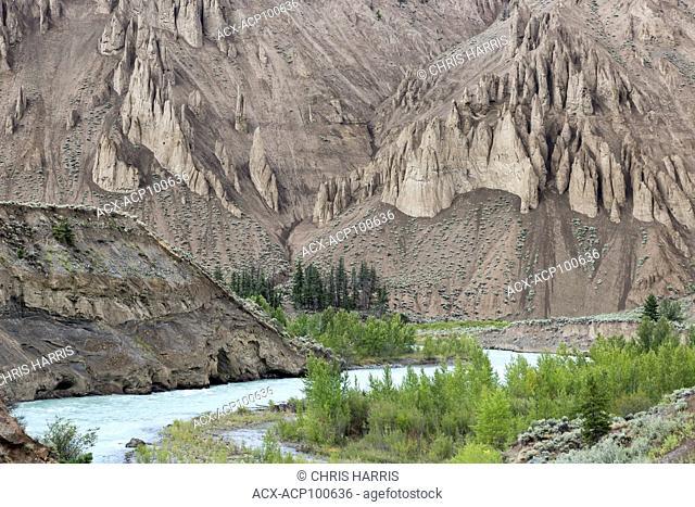 Canada, British Columbia, Chilcotin, Grasslands, Farwell Canyon, Chilcotin River