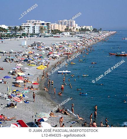 Beach, Salobreña. Granada province, Andalusia, Spain