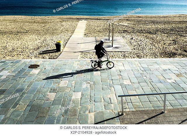 Beach in Poblenou, Barcelona, Catalonia, Spain
