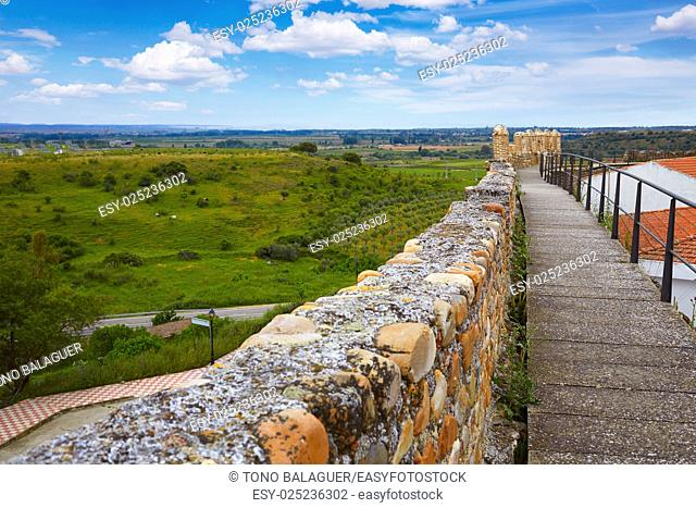 Galisteo fortress in Caceres of Extremadura Spain by the Via de la Plata way