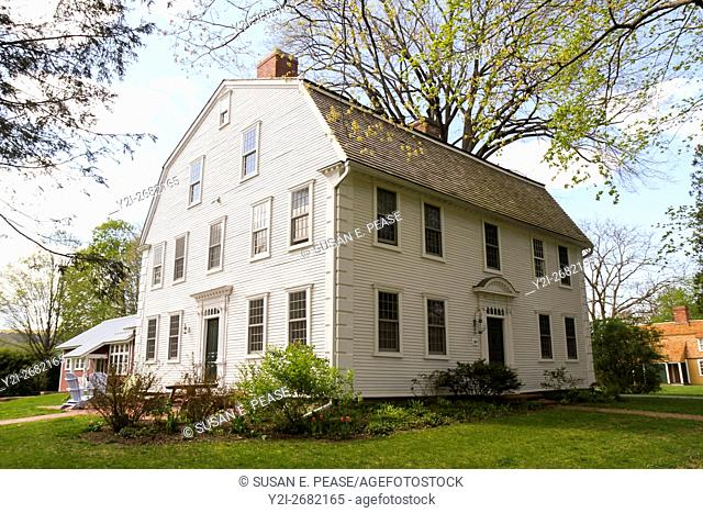 A private home in Old Deerfield, Deerfield, Massachusetts, United States, North America. Editorial use only