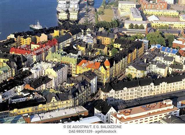 View of the Katajanokka neighbourhood, Helsinki, Finland