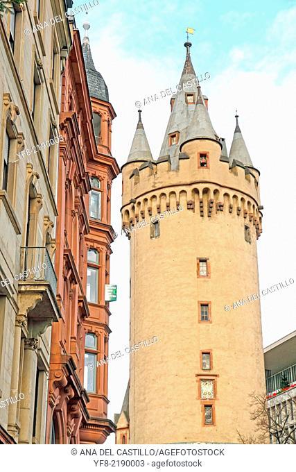 Medieval tower, Famous Eschesheimer Turm in Frankfurt am Main Germany
