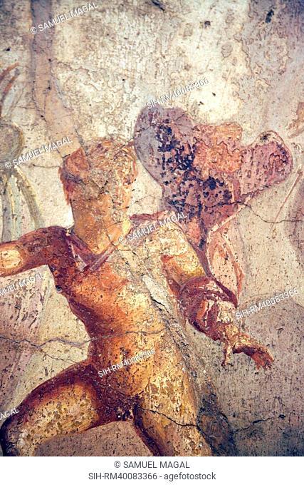 Italy, Naples, Naples Museum, Pompeii, Caecilius Lucundus House V 1, 26, Theseus and Ariadne
