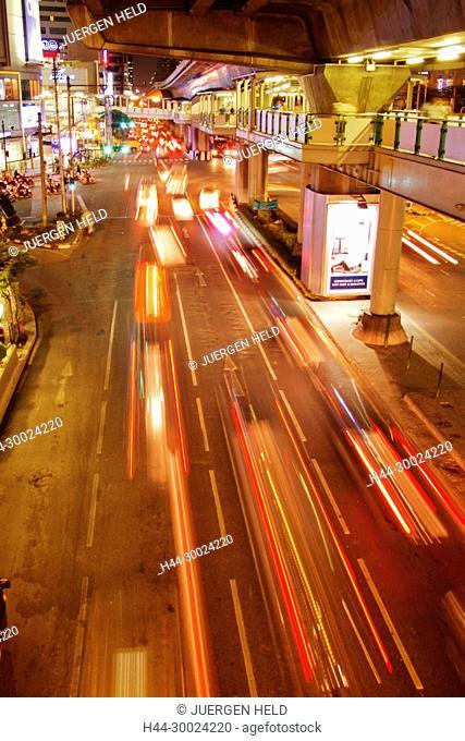 Sukhumvit traffic jam, Bangkok, Thailand