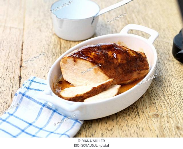 Smoked Chicken Breast with Gravy