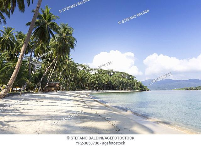 White beach, near Port Barton, Palawan island, Philippines