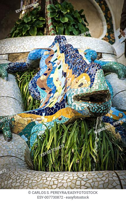 Park Guell in Barcelona by Gaudi, Spain