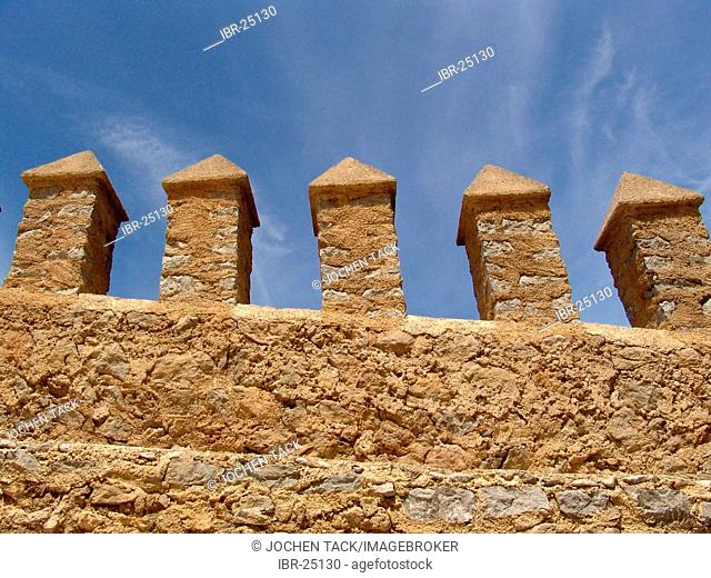 ESP, Spain, Balearic Islands, Mallorca, Arta : pinnacles of the castle of Arta