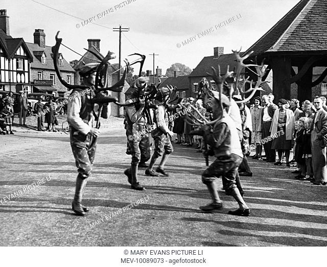 Only town in England where a Horn Dance survives and is believed to date back over 1000 years. The antlers come from animals brought over by the Norsemen