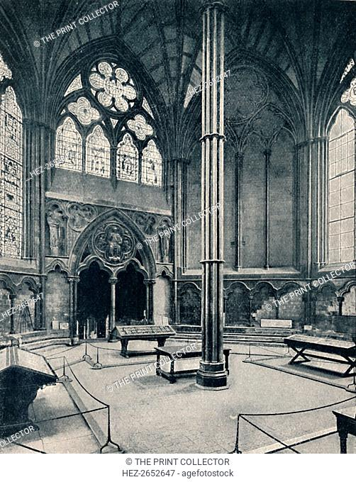 'The Chapter-House, Westminster', 1902. A chapter house or chapterhouse is a building or room that is part of a cathedral