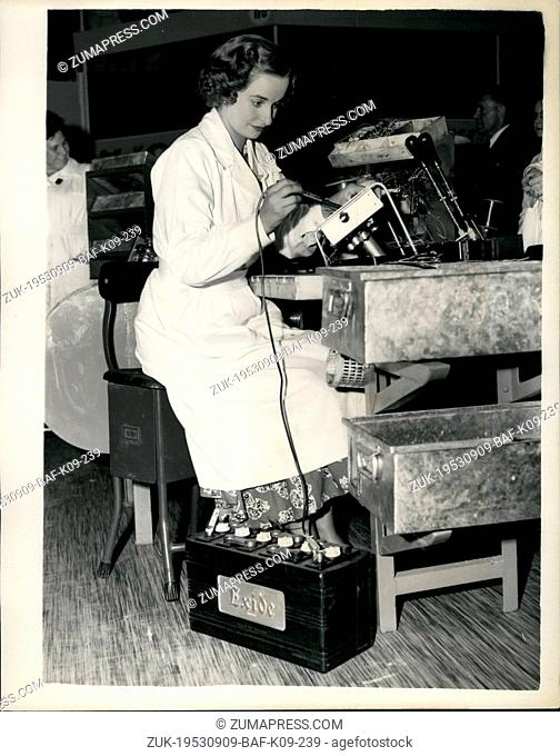Sep. 09, 1953 - Monty opened the 'Strike Dimmed' radio show. Soldering T.V. sets - Power from car batteries.: In spite of the 'guerrilla' by electricians at the...