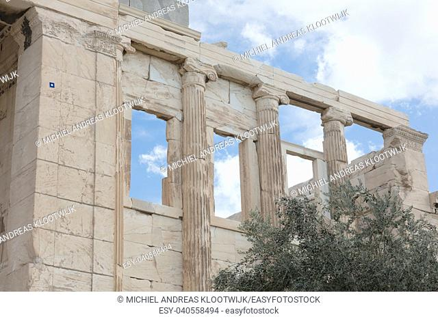 Details of the Erechtheion at the Acropolis in Athens - Greece
